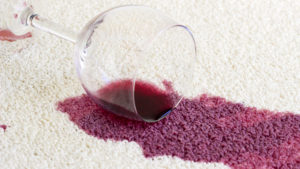 removing wine stain- jake's carpet and upholstery cleaning