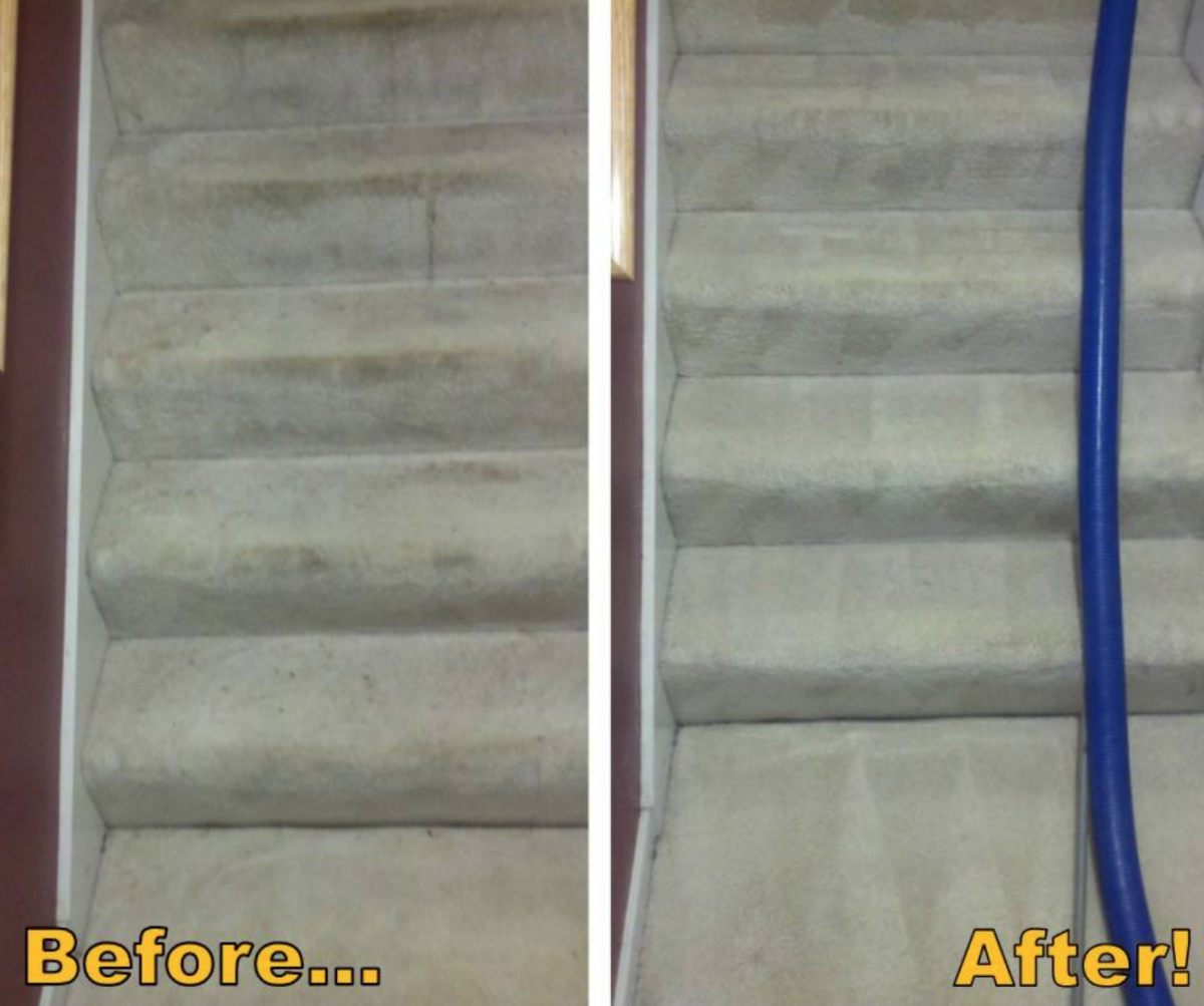 Before and After by Jake's Carpet and Upholstery Cleaning 11